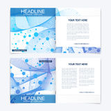Templates for square brochure. Leaflet cover presentation. Business, science, technology design book layout. Scientific Royalty Free Stock Image