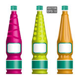 Templates of stylish bottles royalty free stock photo