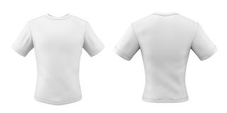 Templates t-shirts front and back for your design Stock Photo