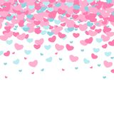 Templates Valentine`s Day. Endless pink backgrounds with hearts. Valentine`s day seamless patterns. Endless pink backgrounds with hearts on a white background royalty free illustration