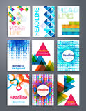 Templates. Vector flyer, brochure, cover for print Royalty Free Stock Photo