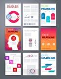 Templates. Vector flyer, brochure, magazine cover Royalty Free Stock Photo