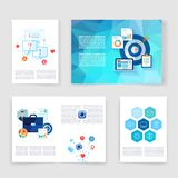 Templates. Vector flyer, brochure, magazine cover Royalty Free Stock Photo