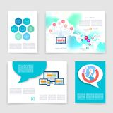 Templates. Vector flyer, brochure, magazine cover. Template can use for print and marketing. Applications and Infographic Concept. Modern flat design icons for Stock Photos
