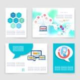 Templates. Vector flyer, brochure, magazine cover Stock Photos