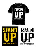 TemplateStand up for your beliefs, Vector. Design Graphic Template stand up for your beliefs, Vector stock illustration