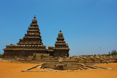 templeâMahabalipuram de rivage, chennai, Inde Photos stock