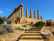 Temple à Agrigente (Sicile) Photographie stock libre de droits