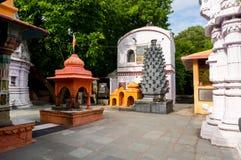 Temple à l'intérieur de fort d'Ahilya dans l'Inde d'Ujjain Photos stock