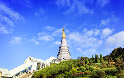 Temple à la montagne d'inthanon de doi, Chiang Mai, Thaïlande Image stock