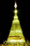 Temple à la nuit Image stock
