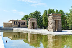 Temple égyptien antique de Debod à Madrid Photo stock