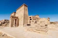 Temple égyptien Philae de Trajan Assouan d'héritage image libre de droits