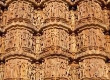 Temple érotique célèbre dans Khajuraho, Inde images libres de droits