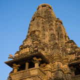 Temple érotique dans Khajuraho, Inde. photographie stock