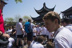 Temple étranger de Confucius de jeu des jeunesse image libre de droits