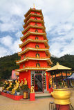 Temple of the 10000 Buddhas. Pagoda at Temple of the 10000 Buddhas in Hong Kong Stock Images