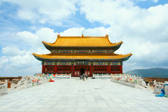 Temple. A main temple in Wutaishan in Shanxi province in china Royalty Free Stock Image