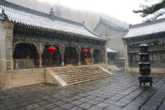Temple. The temple in Wutai Mountain.Wutai Mountain is one of the most famous Buddhist destination in China Stock Photo