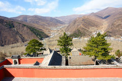 Temple. The temple in Wutai Mountain.Wutai Mountain is one of the most famous Buddhist destination in China Royalty Free Stock Images