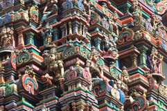 Temple. Hindu temple decorations in bangkok Royalty Free Stock Images