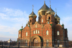 Temple. Ukraine, Lugansk Piously the Vladimir temple Royalty Free Stock Photo