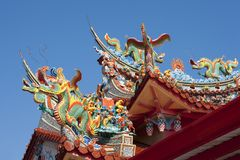 Temple. Roof of a temple in taiwan Stock Photos