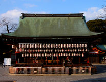 Temple. A japanese temple in Kyoto,Japan.It is Yaska Shrine Royalty Free Stock Photo