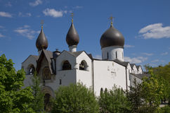 The temple. In the name of the intercession of the Holy Virgin in the Marfo-Mariinsky convent Stock Images