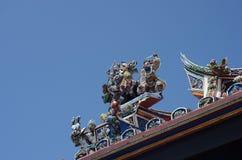 Temple. Jonker Street Malacca temple roof Stock Image