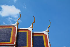 Temple. A part of church roof at Wat Phra Kaew in Bangkok, Thailand Stock Photography