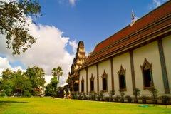 Temple. Thai style molding art at temple in lumphun stock image