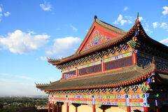 Temple. Clear skies, ancient Chinese temples Stock Image
