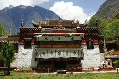 Temple. Buddhism style house in Tibet Royalty Free Stock Images