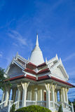 The temple. Fo thailand,A part of temple in thailand,Temple twilight time on the hill,The Marble Temple,The top of white buddhist temple (stupa) with Buddha Royalty Free Stock Photo