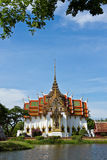 Temple. Thai temple located in Samutpagarn province,Thailand Stock Photo