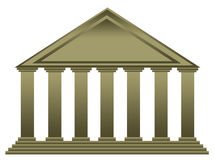 Temple. Ancient Greek or Roman temple (concept for university, bank, theater, official institution Royalty Free Stock Image