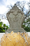 Temple. The stone boundary marker of a temple royalty free stock photo