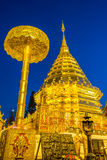 Temple. Wat Par That Doi Suthep in the night time Royalty Free Stock Photos