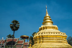 Temple. Wat Pra That Sri Jom Thong temple Royalty Free Stock Photography