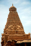 Temple. Hindhu temple top view in south india Stock Image