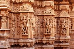 Temple. This is Carving on very famous temple which is in Jaisalmer, Rajasthan Royalty Free Stock Photography