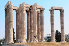 The temple. Of Olympian Zeus in Athens, Greece Royalty Free Stock Photo