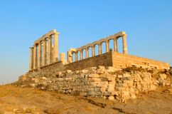 The temple. Of Apollo on the Aegina island, Greece Stock Photography