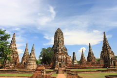 Temple 7. Building temple at ayuttaya thailand Royalty Free Stock Photography