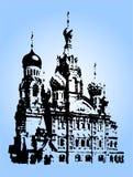 Temple. Russian temple (illustration vector illustration