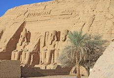 Temple of Abu Simbel Royalty Free Stock Image