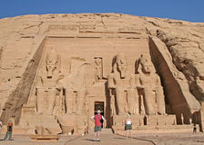 Temple of Abu Simbel Stock Photography