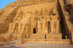 The temple of Abu Simbel in Egypt Stock Image
