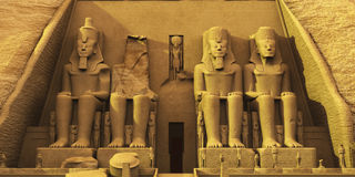 Temple of Abu Simbel Royalty Free Stock Photo